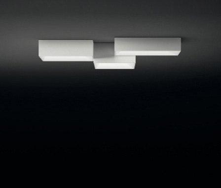 Link ceiling lamp triple von Vibia | Allgemeinbeleuchtung