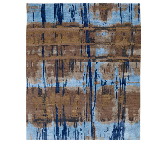 Crash 18 Teppich blau by Christine Kröncke | Rugs / Designer rugs