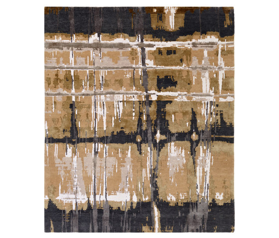 Crash 03 Teppich braun by Christine Kröncke | Rugs / Designer rugs