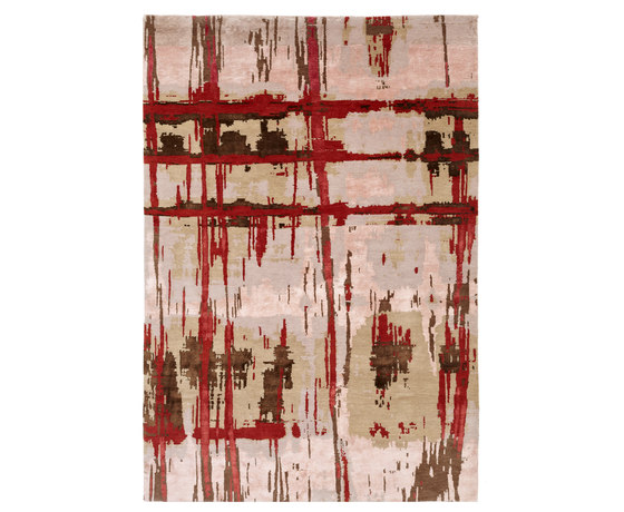 Crash 15 Teppich rot by Christine Kröncke | Rugs / Designer rugs