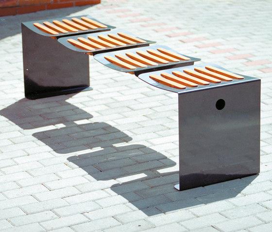 odna | Banc de parc avec assises indépendantes de mmcité | Sièges sur poutre
