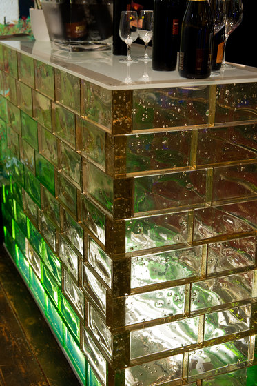 Poesia counter by Poesia | Decorative glass