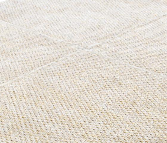 Crossline papyrus beige von Miinu | Formatteppiche / Designerteppiche