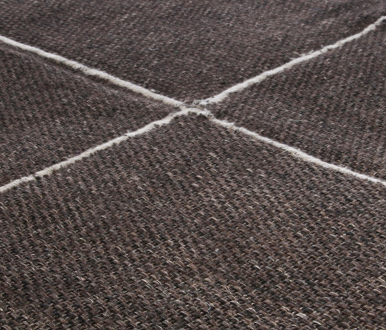 Crossline chocolate by Miinu | Rugs / Designer rugs