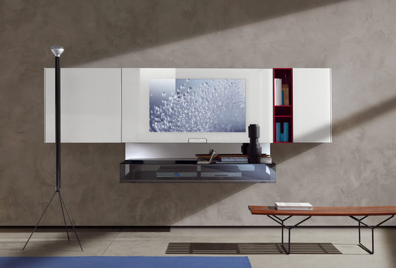 N. C. Smartwall by Acerbis | Multimedia sideboards