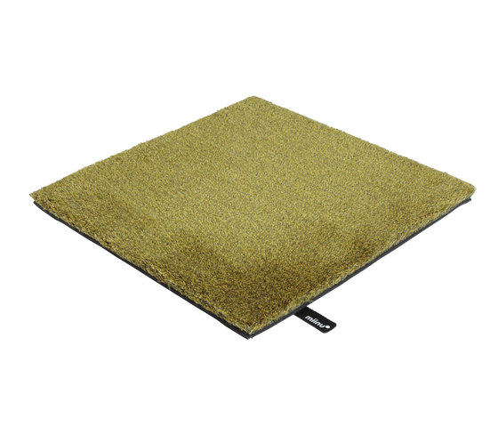 Tribes squared 25 golden olive by Miinu | Rugs