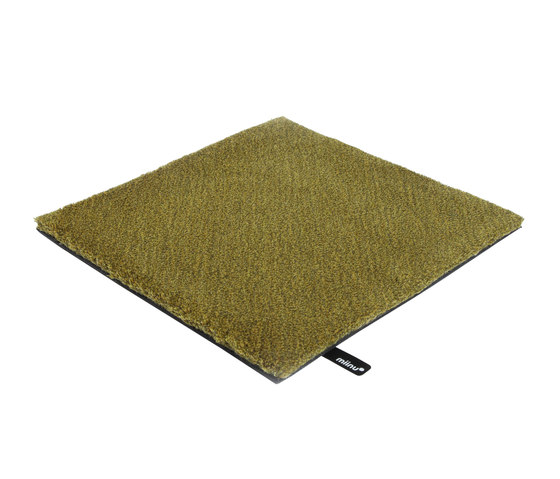 Tribes squared 16  golden olive by Miinu | Rugs