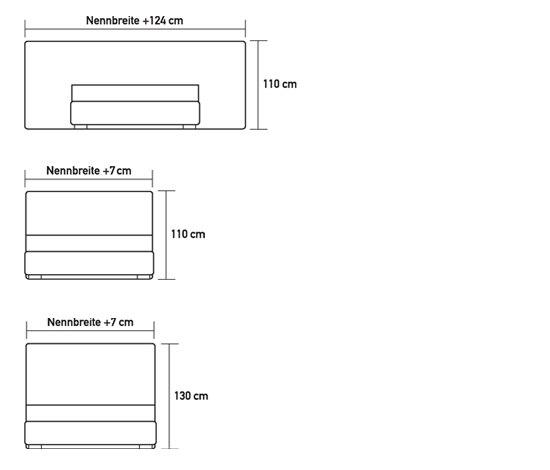swissbed silhouette von Swissflex | Doppelbetten