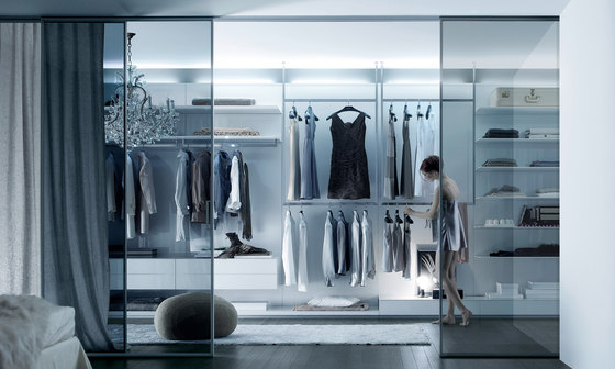Abacus by Rimadesio | Walk-in wardrobes