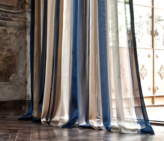 Gold Stipe by Christian Fischbacher | Curtain fabrics