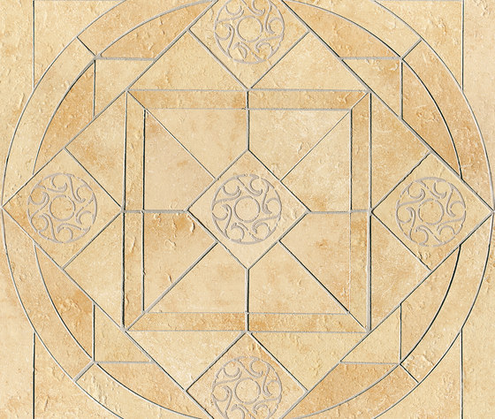 Ancient Jerusalem | Decoro intarsio rosone Cedron Gold by Lea Ceramiche | Tiles