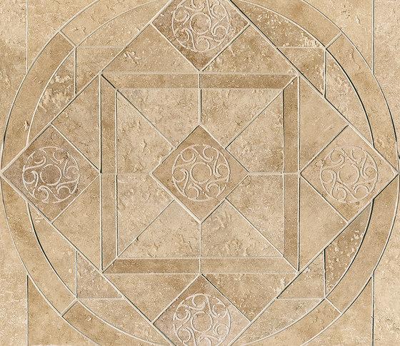 Ancient Jerusalem | Decoro intarsio rosone Ghihon beige by Lea Ceramiche | Tiles