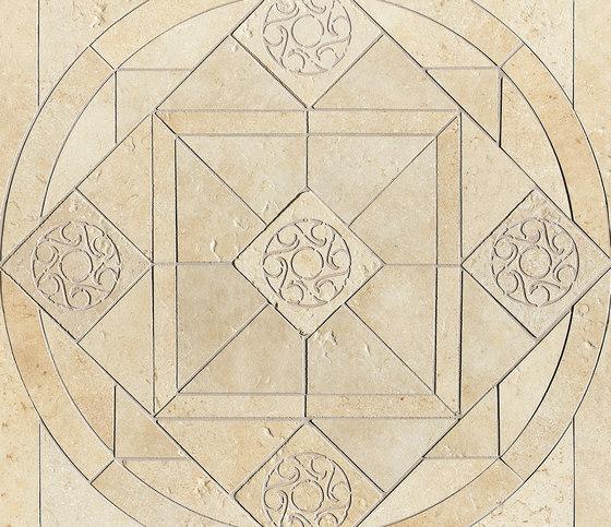 Ancient Jerusalem | Decoro intarsio rosone Hebron White by Lea Ceramiche | Tiles