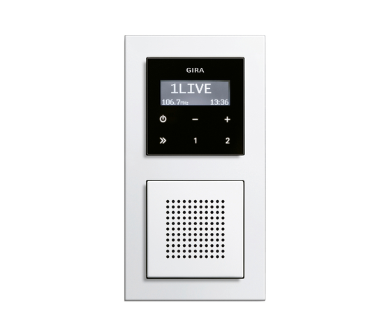 E2 | RDS flush-mounted radio by Gira | Radio systems