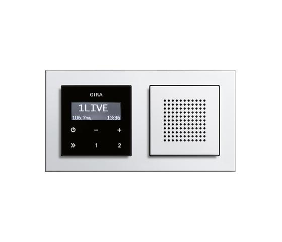 E2 | RDS flush-mounted radio by Gira | Radio systems