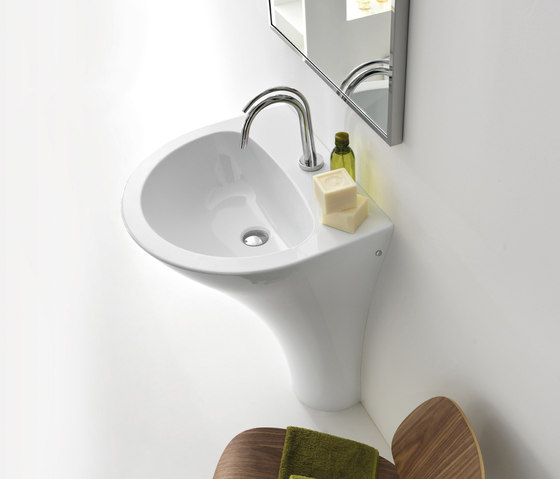 Aquatech basin monolithic by Kerasan | Wash basins