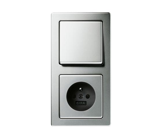 stainless steel by gira edelstahl switch range. Black Bedroom Furniture Sets. Home Design Ideas