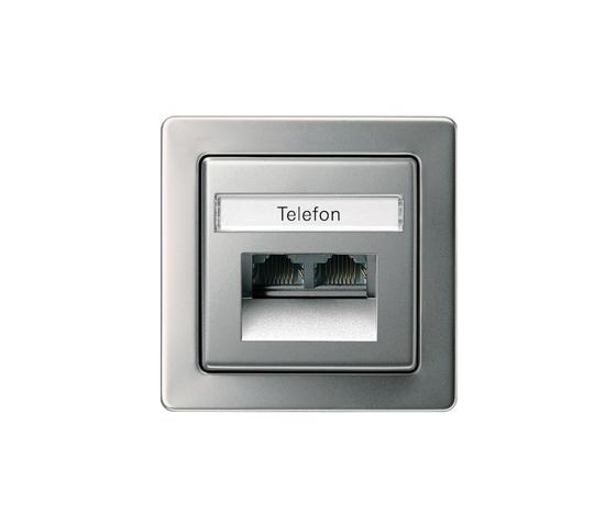 Edelstahl | Telephone socket outlet TAE de Gira | Comunicación de datos