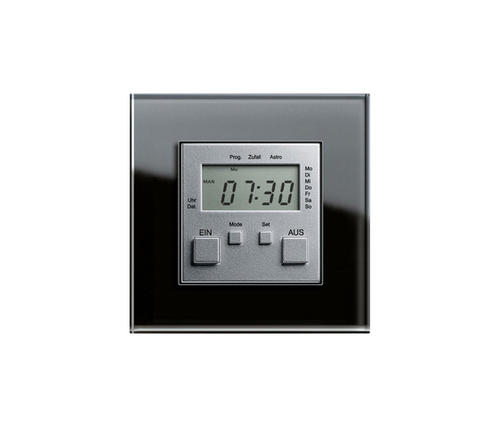 Esprit Glass | Elektronic time clock by Gira | Timers