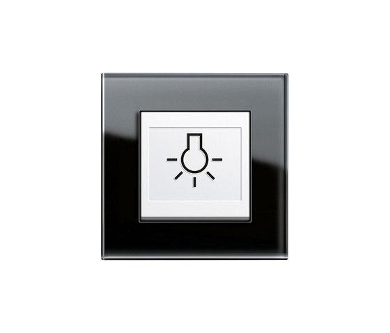 Esprit Glass | Switch with touch-activation symbol di Gira | interuttori pulsante