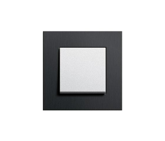 Esprit Aluminium Schwarz | Switch range by Gira | Push-button switches