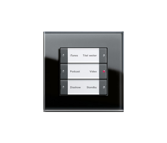 Esprit Glass | Multimedia switch by Gira | Sound / Multimedia controls