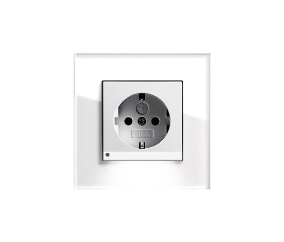 Esprit Glass | Socket outlet by Gira | Schuko sockets