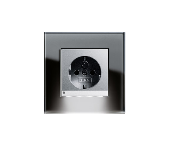 Esprit Glass | LED Socket outlet by Gira | Schuko sockets