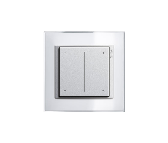 Esprit Glass | Series dimmer by Gira | Button dimmers