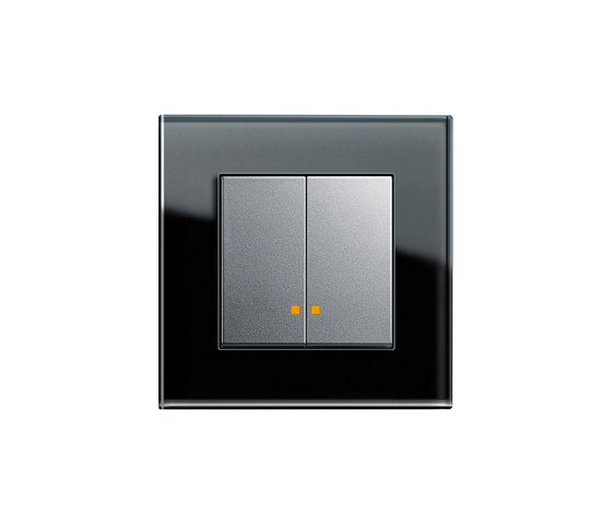 Esprit Glass | LED Series controller di Gira | interuttori pulsante