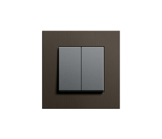Esprit Wenge wood | Series control switch by Gira | Push-button switches