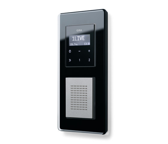 Esprit Glass C | RDS flush-mounted radio by Gira | Radio systems