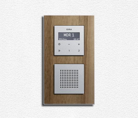 Esprit Walnut | Flush-mounted radio by Gira | Radio systems