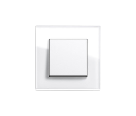Esprit Glass | Push rocker by Gira | Push-button switches