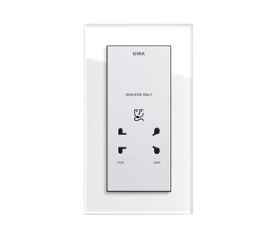 Esprit Glass | Socket outlet by Gira | EURO sockets