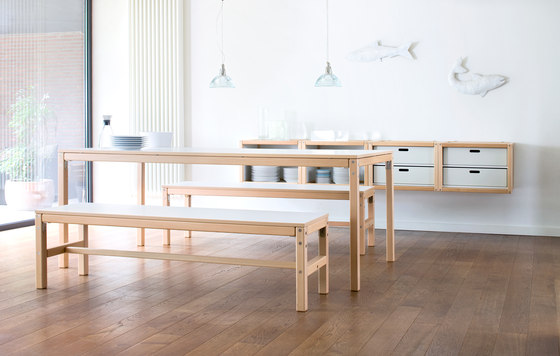 Profilsystem by Flötotto | Canteen tables