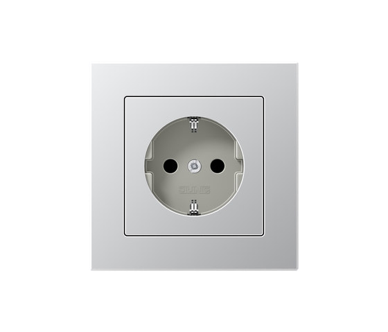 A creation aluminum socket by JUNG | Schuko sockets