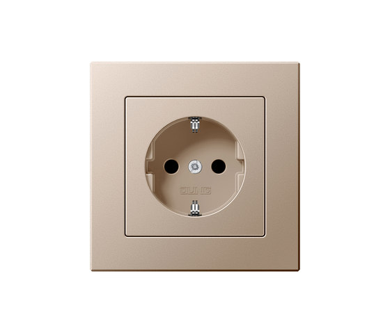 A creation champagne socket by JUNG | Schuko sockets