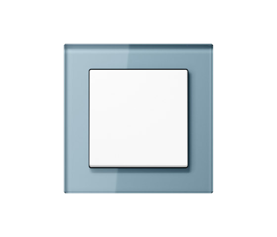 A creation glass blue-grey switch by JUNG | Two-way switches