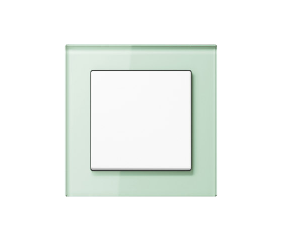 A creation glass soft white switch by JUNG | Two-way switches