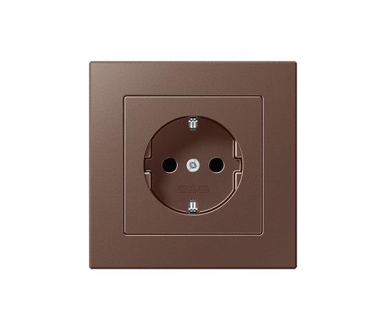 A creation mokka socket by JUNG | Schuko sockets