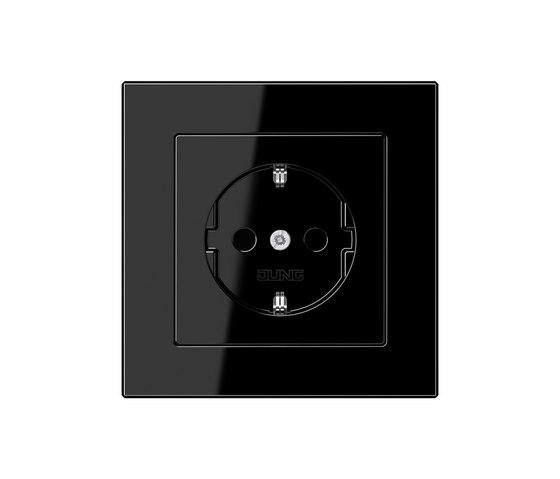 A creation black socket by JUNG | Schuko sockets