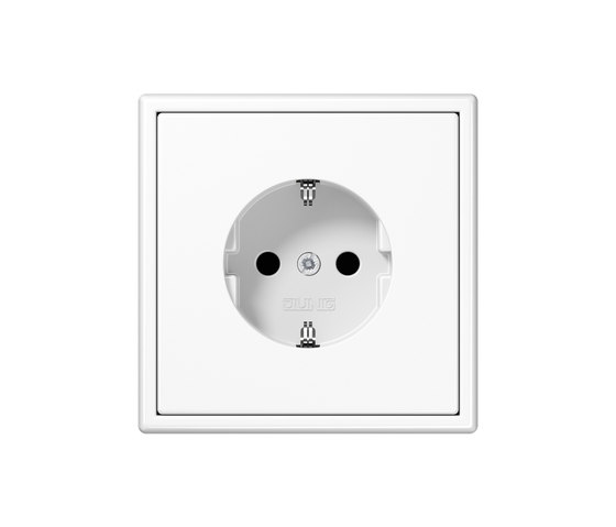 LS 990 white socket by JUNG | Schuko sockets