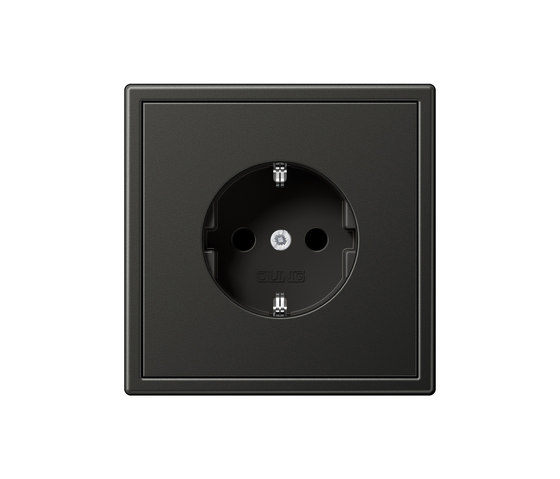 ls 990 anthracite socket schuko sockets from jung architonic. Black Bedroom Furniture Sets. Home Design Ideas