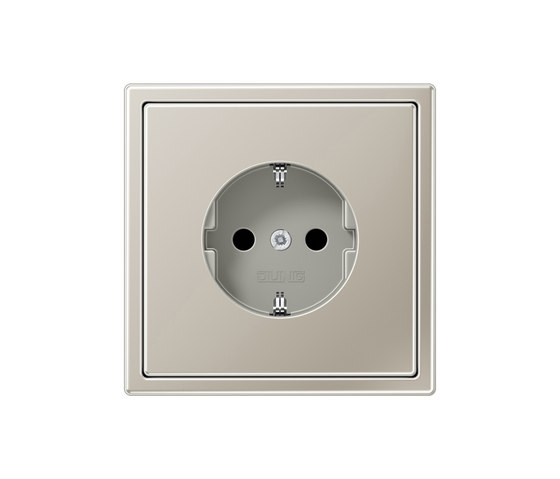 LS 990 stainless steel socket by JUNG | Schuko sockets