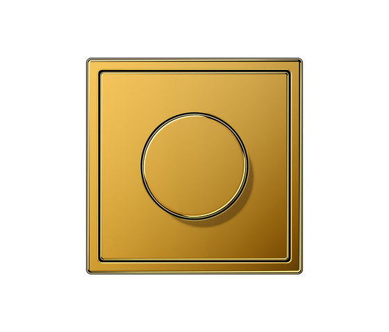 LS 990 gold 24 carat dimmer by JUNG | Rotary dimmers