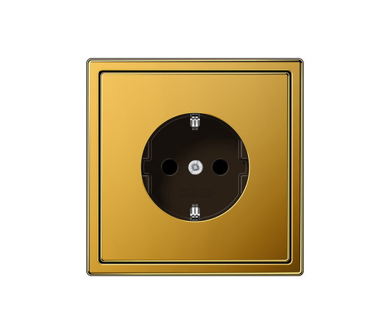 LS 990 gold 24 carat socket by JUNG | Schuko sockets