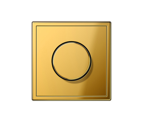 LS 990 gold coloured dimmer by JUNG | Rotary dimmers