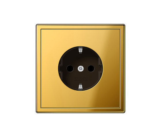 LS 990 gold coloured socket by JUNG | Schuko sockets