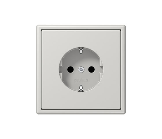 LS 990 light grey socket by JUNG | Schuko sockets